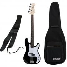 Fazley FPB118BK electric bass guitar starter set, black