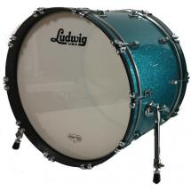 Ludwig Classic Maple Teal Sparkle bass drum, 22 x 16-inch