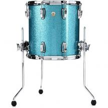 Ludwig Classic Maple Teal Sparkle floor tom, 14 x 14-inch