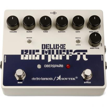 Electro Harmonix Sovtek Deluxe Big Muff Pi distortion sustainer