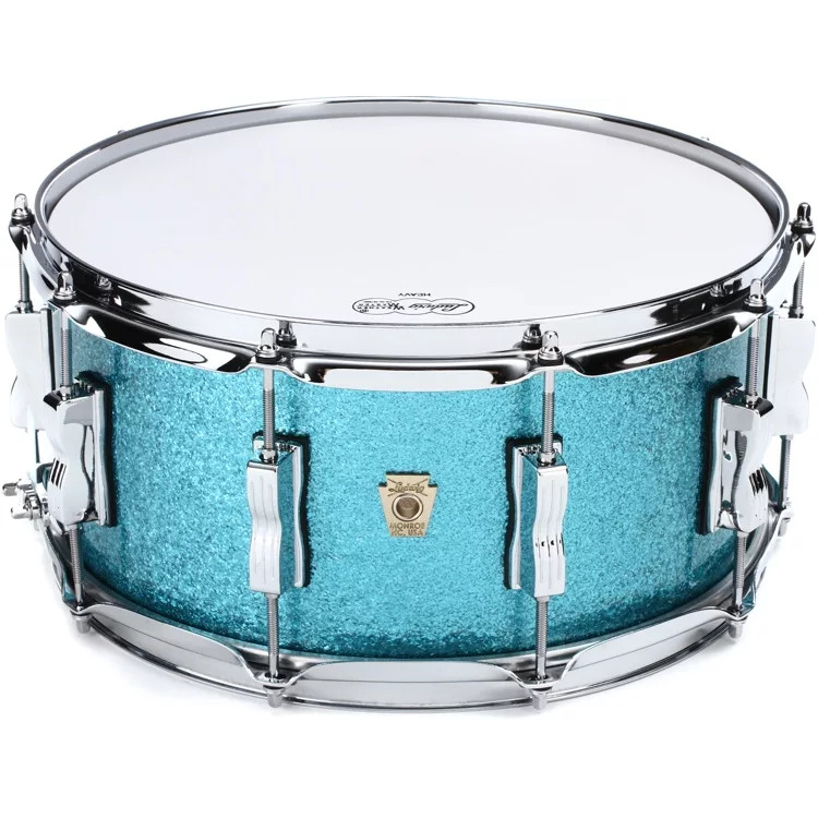 Ludwig Classic Maple Teal Sparkle snare drum, 14 x 6.5 inch