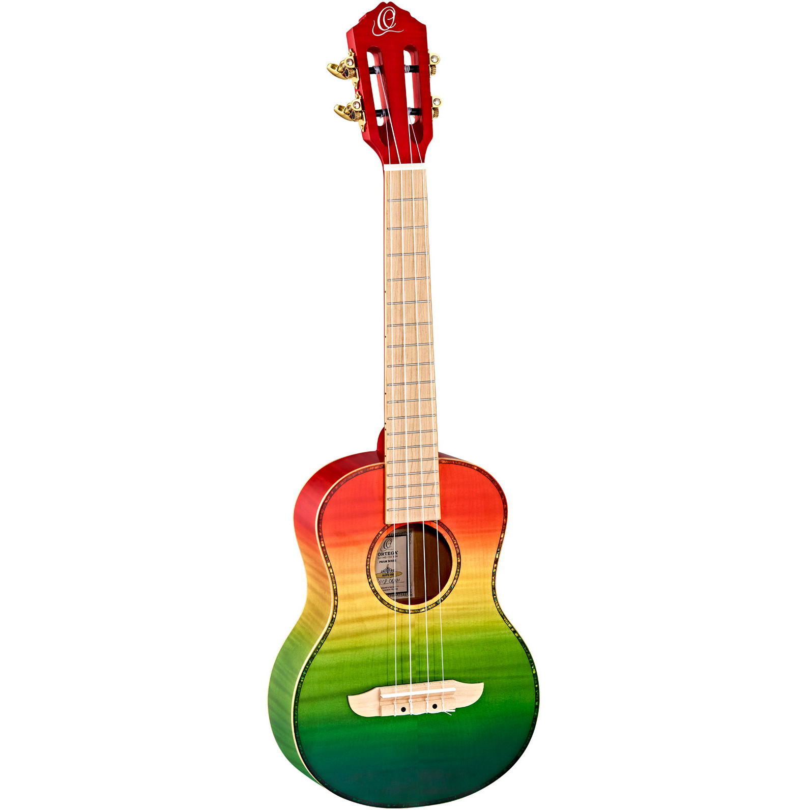 Ortega Prism series RUPR TRI tenor ukulele with bag