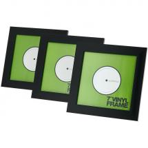Glorious Vinyl Frame Set Black 7 inch for records (set of 3)