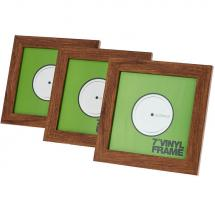 Glorious Vinyl Frame Set Rosewood 7 inch for records (set of 3)