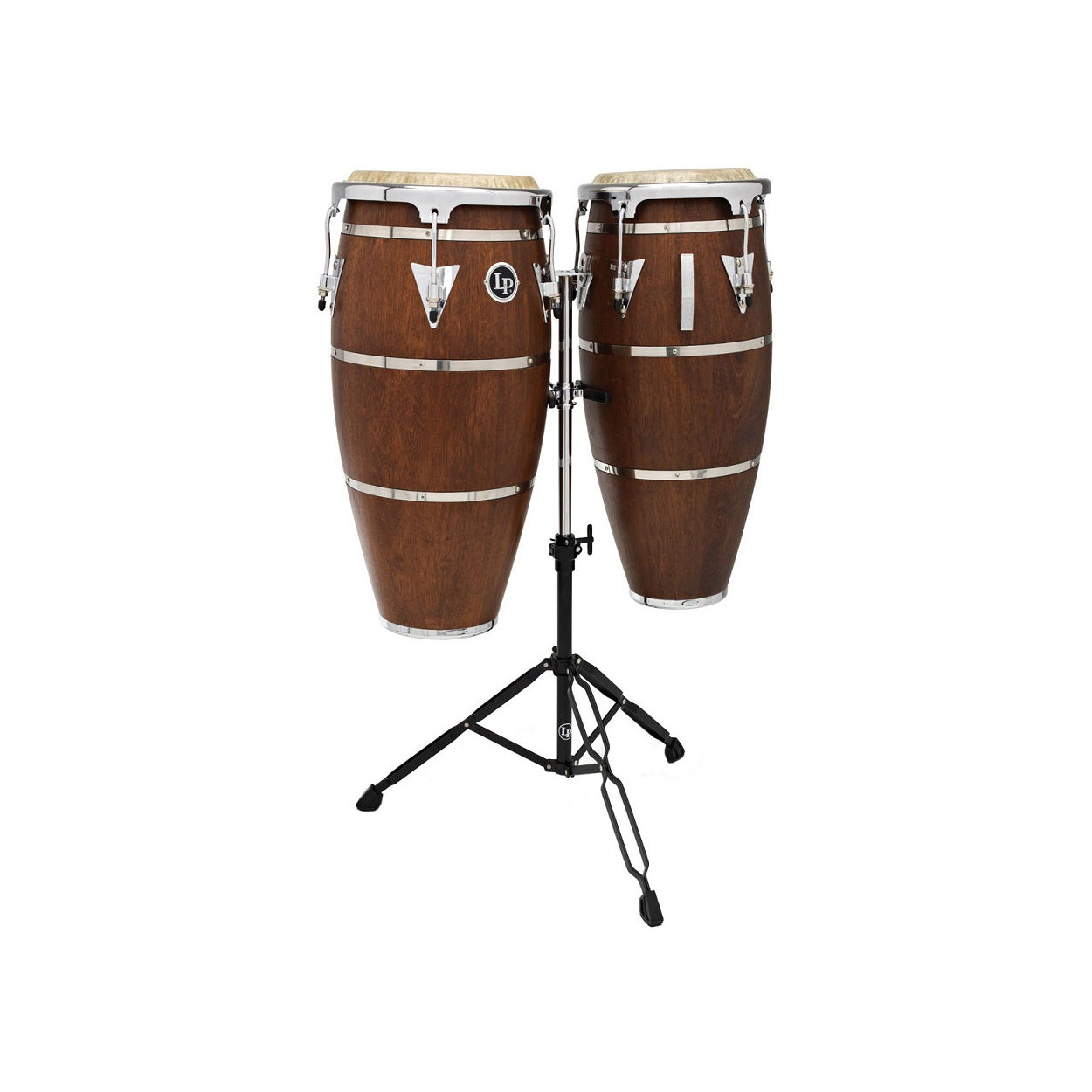Latin Percussion LPH646 SMC Highline Conga Set, Satin Mahogany