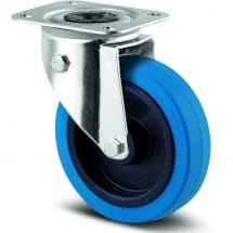 TENTE 360 Blue Wheel castor with directional lock, 100 mm
