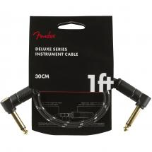 Fender Deluxe Cables instrument cable, 30 cm, black tweed