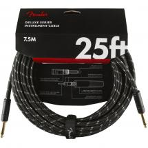 Fender Deluxe Cables instrument cable, 7.5 m, straight, black tweed