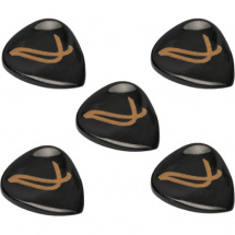 Wambooka Nativo Picks Black Horn plectrums (set of 5)