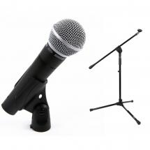 Shure SM-58 vocal microphone + stand combo