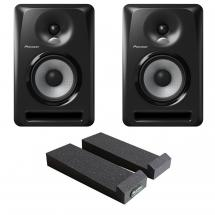 Pioneer S-DJ50X DJ monitor set + MoPAD isolation