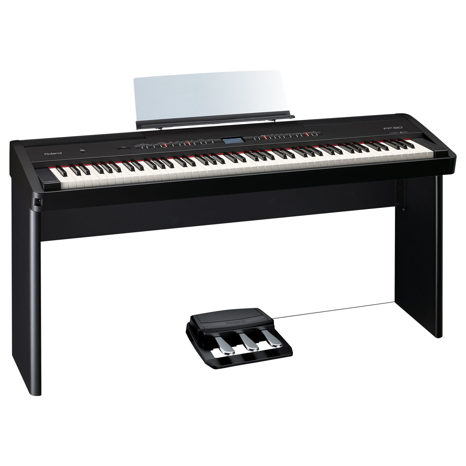 roland fp 80 bk e piano schwarz kaufen bax shop. Black Bedroom Furniture Sets. Home Design Ideas