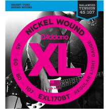 D'Addario EXL170BT Saitenset Balanced Tension Regular Light 45-107