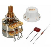 Fender TBX Tone-Potentiometer, 250K-1Meg, Split Shaft