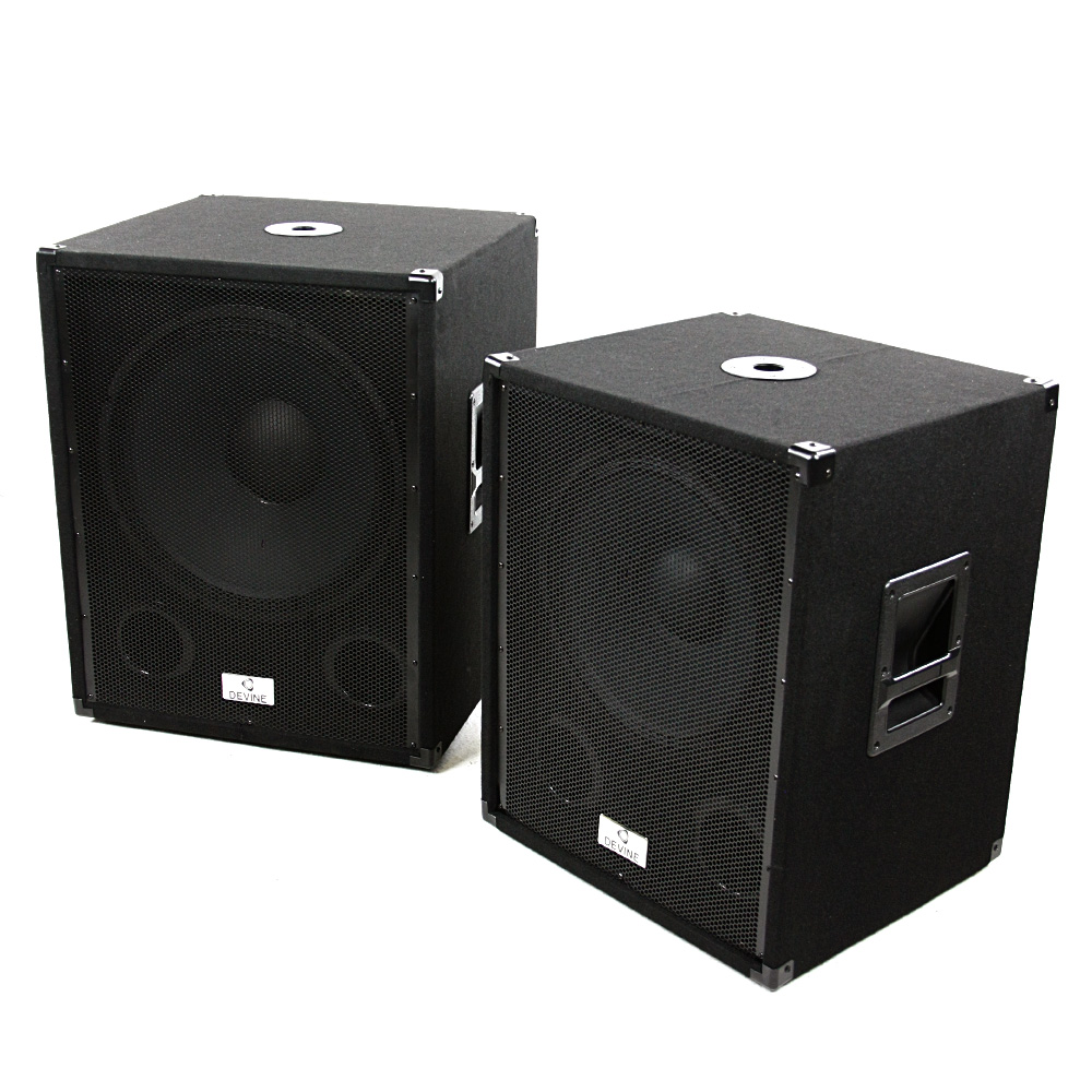 devine b118a active subwoofer mit 3 kanal verst rker. Black Bedroom Furniture Sets. Home Design Ideas
