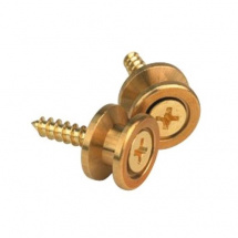 Planet Waves EP302 Solid Brass End Pins Strap Buttons, goldfarben
