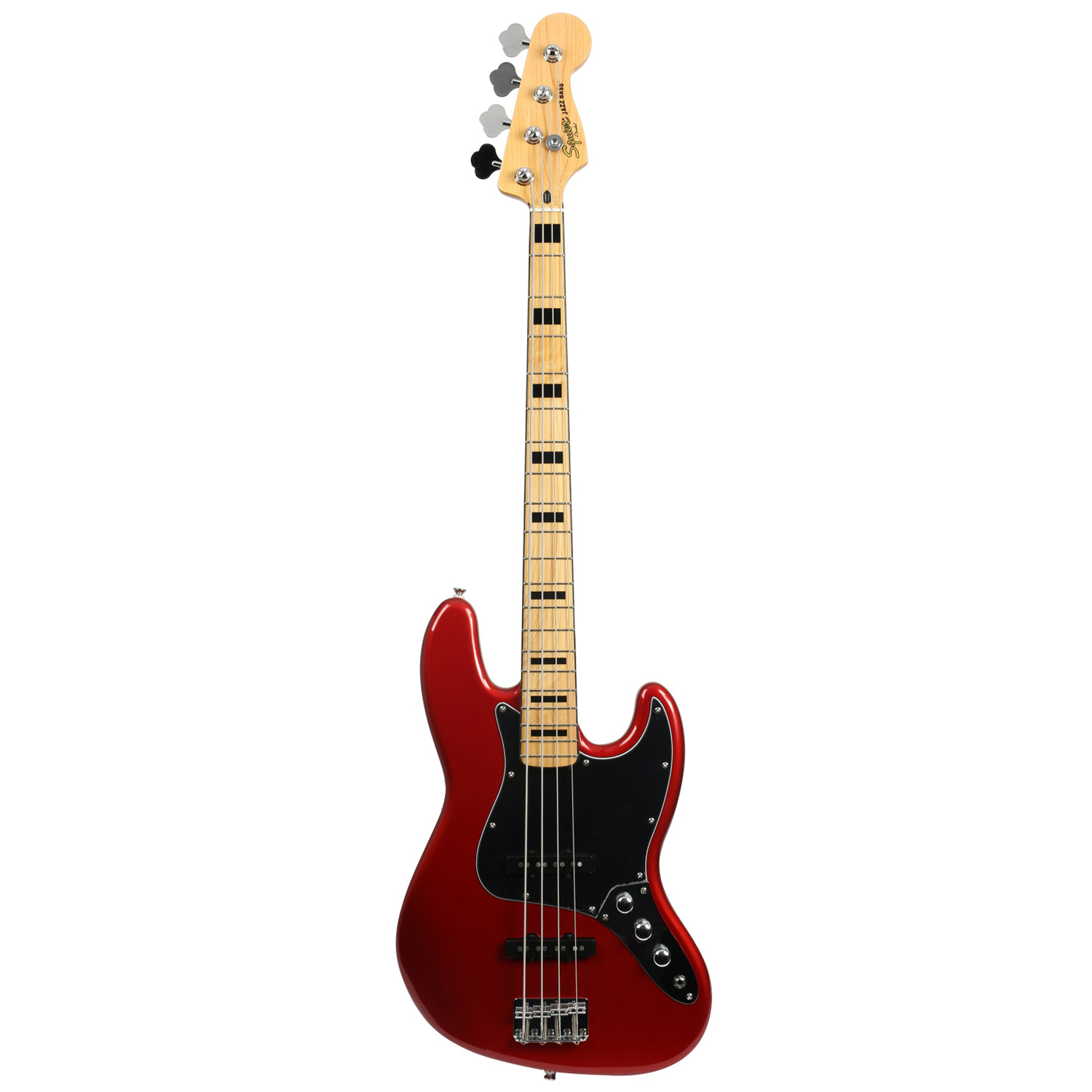 Squier Vintage Modified Jazz E Bass 70s Candy Apple Red