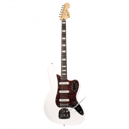 Squier Vintage Modified Bass VI Olympic White  Shortscale Bass