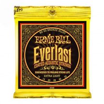 Ernie Ball 2560 Everlast Coated Bronze Extra Light Saitensatz