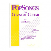 EMC Popsongs for Classical Guitar 1 - Cees Hartog Gitarrenbuch (englischsprachig)