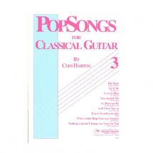 EMC Popsongs for Classical Guitar 3 - Cees Hartog Gitarrenbuch, englischspachig