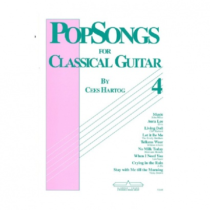 EMC Popsongs for Classical Guitar 4 - Cees Hartog Gitarrenbuch (englischsprachig)