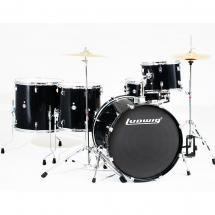 Ludwig LC17611 Accent Power Plus 5-teiliges Schlagzeug, Black Sparkle