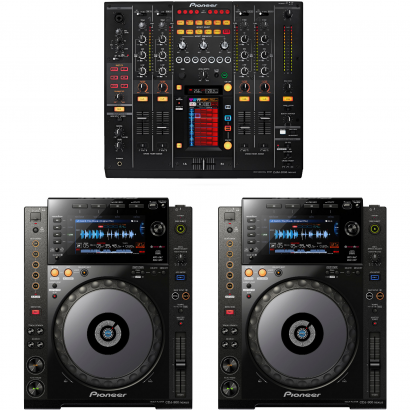 Pioneer DJ-Set DJM-2000 Nexus Mixer und 2x CDJ-900 Nexus Player