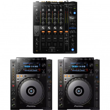 Pioneer DJ-Set DJM 750 Mixer und 2x CDJ 900 Nexus-Player