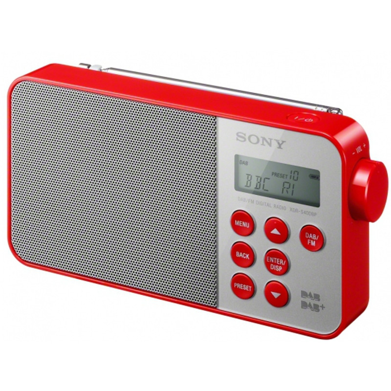 sony xdr s40dbp dab digitales radio rot kaufen bax shop. Black Bedroom Furniture Sets. Home Design Ideas