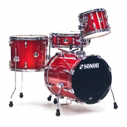 Sonor SSE 12 Safari Red Galaxy Sparkle 4-teiliger Kesselsatz