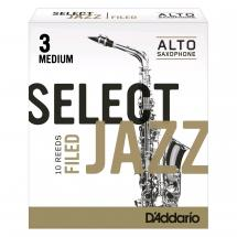 D'Addario Woodwinds RSF10ASX3M Jazz Select Filed Rohrblatt für Alt-Sax 3M