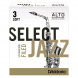 D'Addario Woodwinds RSF10ASX3S Jazz Select Filed Blätter für Altsaxophon 3S