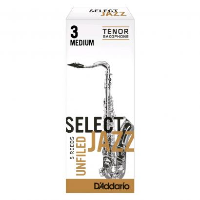 D'Addario Woodwinds RRS05TSX3M Jazz Select Unfiled Blätter für Tenorsaxophon 3M