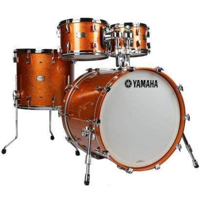 Yamaha Yamaha 'Absolute Hybrid Maple' Shellset 1, Orange Sparkle